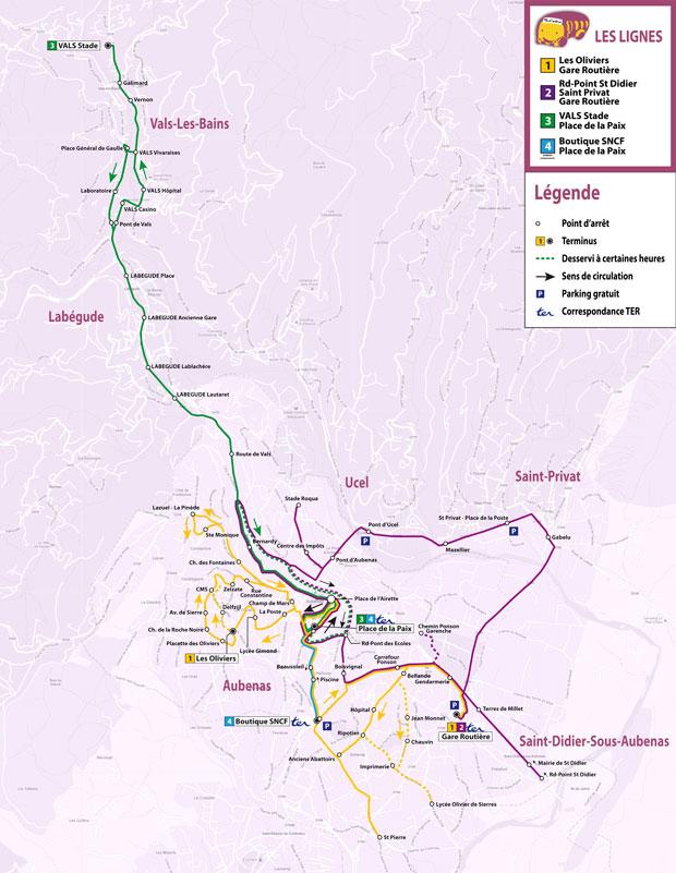 Transport, Pays d'Aubenas-Vals