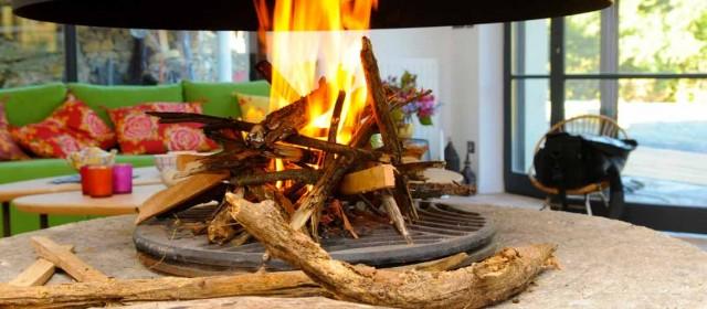gite avec cheminée- Ardèche