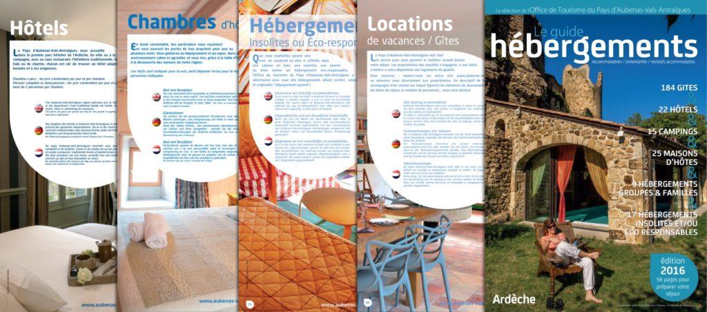 Guide Hébergements 2016 Ardèche