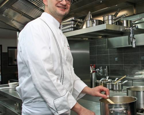 Auberge de Montfleury – St Germain – Richard Rocle en cuisine
