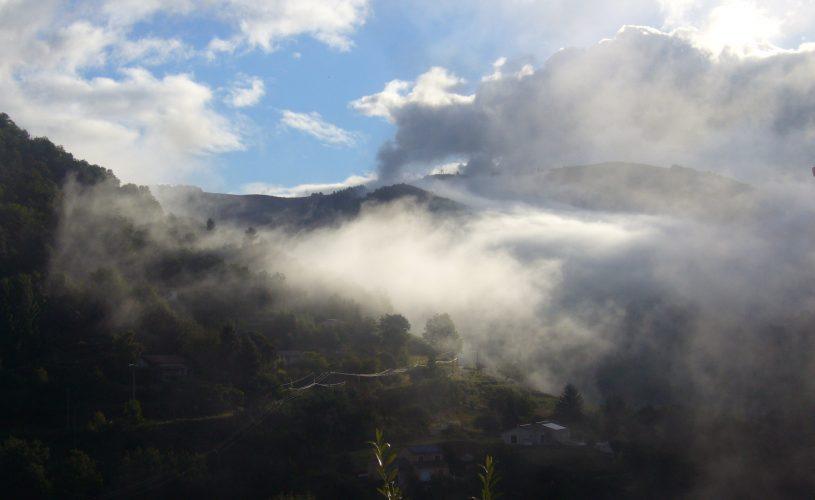 Superbe vue sur la montagne.