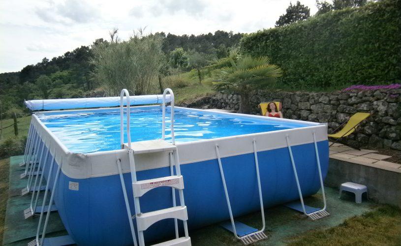 piscine avec vue côté Sud